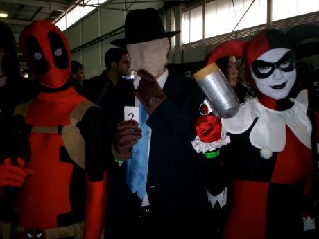 Supanova Perth 2009 Deadpool, The Question, Harley Quinn