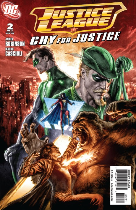 JLA Cry For Justice #2 Cover