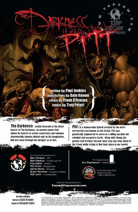 The Darkness/Pitt #1 Bios