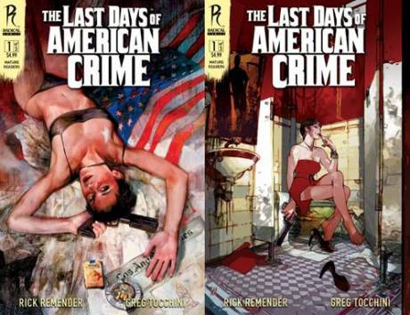 The Last Days of American Crime #1 Covers