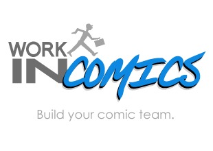 Work In Comics Logo