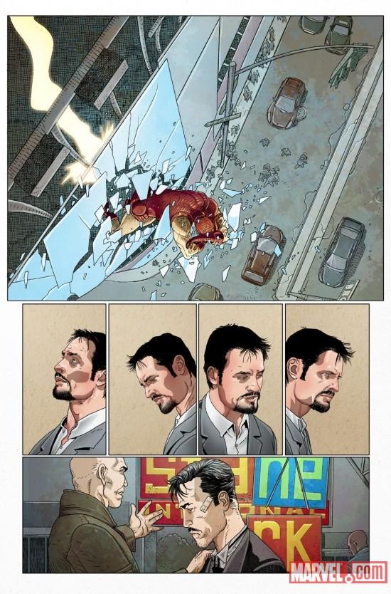 both INVINCIBLE IRON MAN #1 50//50 LARROCA QUESADA movie MARVEL COMIC BOOK