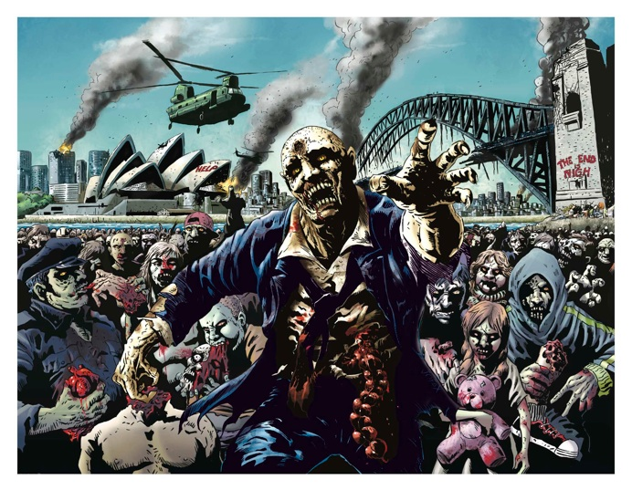 silver fox comics presents sydney zombies limited edition print - Zombie Pictures To Print